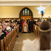 131224 Christmas Pageant JOED VIERA/STAFF PHOTOGRAPHER Lockport, NY-An angel uses a star to guide the three Kings to the altar at this years All Saints Church Christmas Eve pageant on Tuesday Dec 24th, 2013.