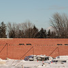 140103 Walmart supercenter JOED VIERA/STAFF PHOTOGRAPHER Lockport, NY-A wall is standing at the site of the new Walmart Supercenter Friday Jan 2nd, 2013..