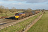 23 January 2014 :: Passing Shrivenham is 66133 with 6V47 from Tilbury to Trostre