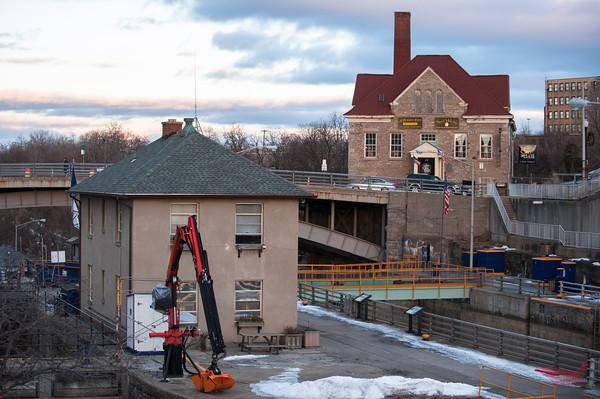 131220 Locks JOED VIERA/STAFF PHOTOGRAPHER Lockport, NY-Construction is underway to renovate Lockport's five locks Monday Dec 30th, 2013.