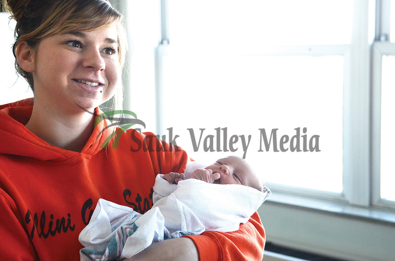 Connie Hermes, 21, talks about the day Riley Adilynn came into the world on January 1st.