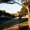 Riding bikes to the park