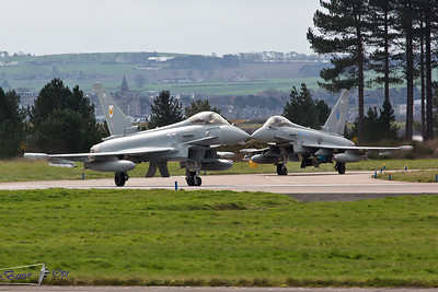 Eurofighter Typhoon FGR.4's ZK348 + ZJ937 Royal Air Force RAF Leuchars
