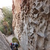 Usual 'hueco' wall at Soloby Face