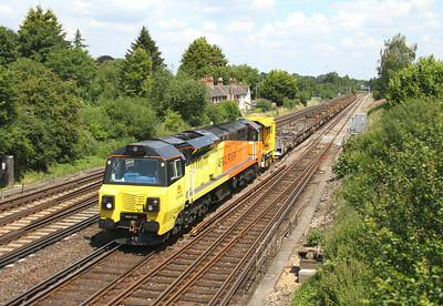 70806 Worting Junction 02/07/14 with a late running 6C25 Fareham to Eastleigh