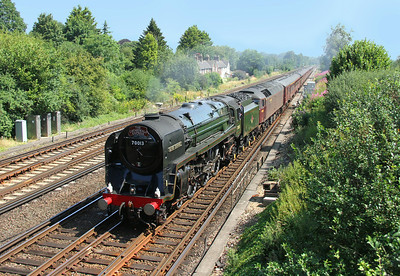 70013 Worting Junction 24/07/14 Victoria to Bristol with 47237