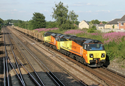 70808 Worting Junction 17/07/14 6Y42 Hoo Junction to Eastleigh with 70805