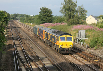 66743 Worting Junction 25/07/14 0Y66 Tonbridge to Eastleigh with 73136 and 73119