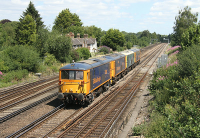 73136 Worting Junction 14/07/14 0Y67 Hoo Junction to Eastleigh with 73212, 73201 and 73213