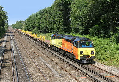 70808 Old Basing 02/07/14 6Y41 Eastleigh to Hoo Junction