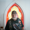 140431 JOED VIERA/STAFF PHOTOGRAPHER-Wilson, NY-Pastor Ron Haefer wears his harley gear at St. Paul's Lutheran Church on Thursday July 31st.