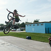 140702 JOED VIERA/STAFF PHOTOGRAPHER-Lockport, NY-Nathan Lefort catches some air at Outwater Park's skate park. July 1, 2014.
