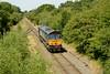 30 July 2014 :: 66413 running round at Calvert having worked bin train 6Z22 from Crewe