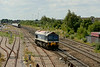 29 July 2014 :: 59102 runs round its train 7Z12 from Merehead to Royal Wootton Bassett at Highworth Junction