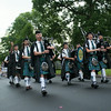 140703 JOED VIERA/STAFF PHOTOGRAPHER-Lockport, NY- WNY Celtic Spirit Pipe Band takes part in Lockport Independance Day Parade on July 3, 2014.