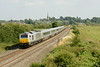 30 July 2014 :: Bound for Marylebone with 1H69 the 15:55 from Birmingham Moor Street to Marylebone 67010 is passing King's Sutton