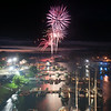 140703 JOED VIERA/STAFF PHOTOGRAPHER-Olcott, NY-Fireworks go off over the pier in Olcott July 3, 2014.