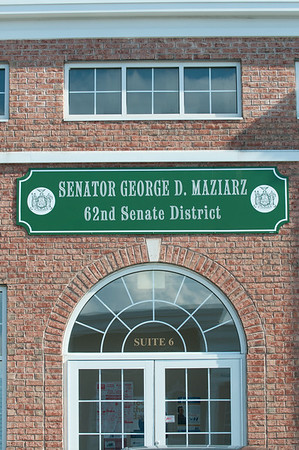 140415 JOED VIERA/STAFF PHOTOGRAPHER-Lockport, NY-The outside of Sentator George D Maziarz on Tuesday, July 15th.