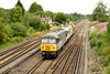 28 July 2014 :: 56301 with 56311 at Worting with train 6Z56, Chaddesden to Totton