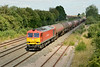 29 July 2014 :: 60020 is at Highworth Junction just as the sun appears.  The train is 6B33 from Theale to Robeston