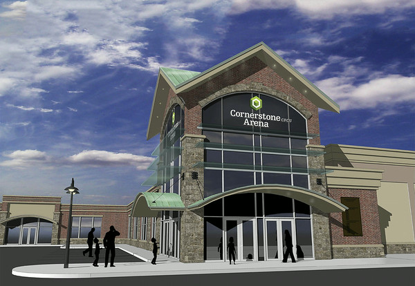 """140709 CONTRIBUTED-Lockport, NY-A rendering of Lockport's new ice arena """"Cornerstone Arena"""" on Wednesday, July 8th."""