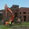 140416 JOED VIERA/STAFF PHOTOGRAPHER-Lockport, NY-Demolition of the building on 89 Mill Street continues on Wednesday July 16th.