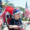 140704 JOED VIERA/STAFF PHOTOGRAPHER-Olcott, NY-Sean Wrench rides his bike in Olcott's Independance Day parade  on July 4, 2014.