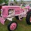 140430 JOED VIERA/STAFF PHOTOGRAPHER-Lockport, NY-Debbie Kennedy's Pink tractor is due to lead the tractor parade at the Niagara County Fair on Wednesday July 30th.