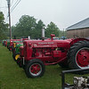 140430 JOED VIERA/STAFF PHOTOGRAPHER-Lockport, NY-Tractors parked outside before the tractor parade at the Niagara County Fair on Wednesday July 30th.