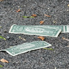 140429 JOED VIERA/STAFF PHOTOGRAPHER-Lockport, NY-Money left behind after a robbery in a lot behind M&T Bank on Tuesday July 29th.