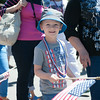 140704 JOED VIERA/STAFF PHOTOGRAPHER-Olcott, NY-Mark Zelfond walks in Olcott's Independance Day parade  on July 4, 2014.