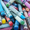 14012 JOED VIERA/STAFF PHOTOGRAPHER-Lockport, NY-Crayons Phillis Abbey a Medium uses to deliver crayon readings at Lockport's community market on Saturday, July 12th.