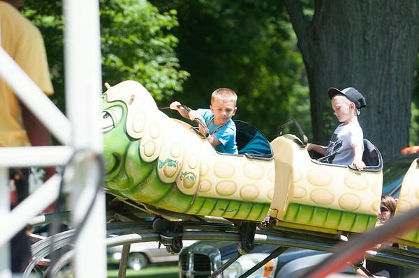 14012 JOED VIERA/STAFF PHOTOGRAPHER-Olcott, NY- Kids enjoy a ride at Olcott's Annual Pirates Fest on Saturday, July 12th.