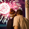 140703 JOED VIERA/STAFF PHOTOGRAPHER-Olcott, NY-Caitlin Drennan and Harley Simiester as fireworks go off over the pier in Olcott July 3, 2014.