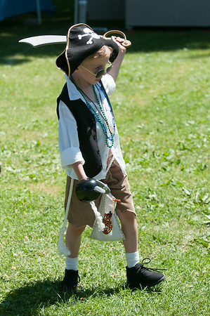 14012 JOED VIERA/STAFF PHOTOGRAPHER-Olcott, NY- Young pirate Liam Gebhardt  swings his sword at Olcott's Annual Pirates Fest on Saturday, July 12th.
