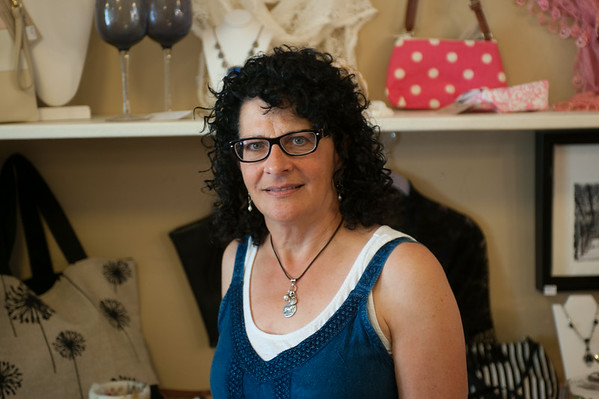 140702 JOED VIERA/STAFF PHOTOGRAPHER-Newfane, NY-Newfane town bard member poses for a photo at her shop on July 2, 2014.