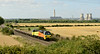 30 July 2014 :: The cooling towers from Didcot A are no more as 70810 passes Culham with 6M50 from Westbury to Bescot