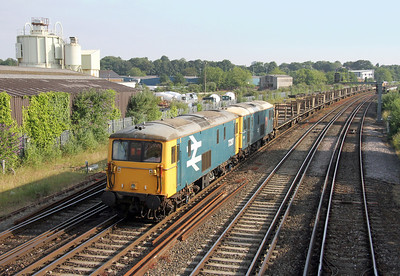 73207 Northam 22/06/14 on the rear of 6G15 Wareham to Eastleigh with 73201