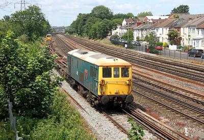 73201 Southampton 19/06/14 6Y73 Southampton Western Docks to Eastleigh Works