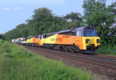 70809 Micheldever 24/06/14 6Y42 Hoo Junction to Eastleigh with 70801