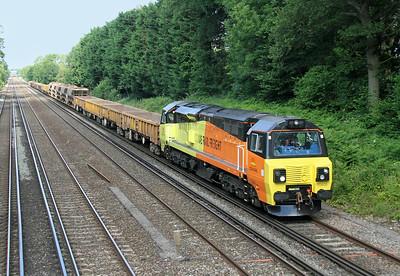 70809 Old Basing 25/06/14 6Y41 Eastleigh to Hoo Junction