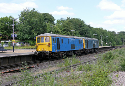 73109 Micheldever 25/06/14 0Z73 Tonbridge to Eastleigh with 73119