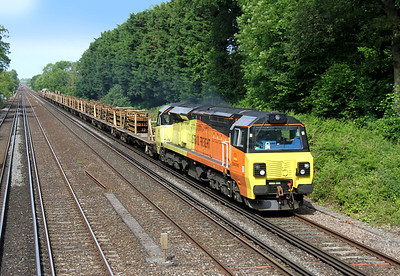 70802 Old Basing 06/06/14 6Y41 Eastleigh to Hoo Junction