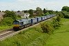 25 June 2014 :: 66302 is seen at Portskewett with Tesco Express 4V38 from Daventry to Wentloog