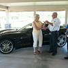 140626 JOED VIERA/STAFF PHOTOGRAPHER-Lockport, NY- the winner  gets keys too her new 2014 Corvette Stingray at Niagara Hospice June 26, 2014