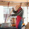 140628 JOED VIERA/STAFF PHOTOGRAPHER-Lockport, NY- Anthony Tonelli prepares kettlecorn at the Lockport Arts & Crafts Festival. June 28, 2014