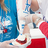 140614 Relay JOED VIERA/STAFF PHOTOGRAPHER-Lockport, NY-Cheryl Naish and Cathy Bierman of the Oshea Cross Bearers serve up some strawberry shortcake at the Relay for Life at Emmet Belknap. June 14, 2014