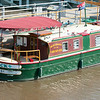140618 JOED VIERA/STAFF PHOTOGRAPHER-Lockport, NY-A boat is docked at the top of the locks on the Erie Canal . June 18, 2014
