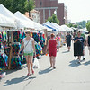 140628 JOED VIERA/STAFF PHOTOGRAPHER-Lockport, NY-People walk down Main Street during the Lockport Arts & Crafts Festival. June 28, 2014