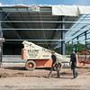 140630 JOED VIERA/STAFF PHOTOGRAPHER-Lockport, NY-Construction workers continue to work on the Lockport Ice Arena June 30, 2014.